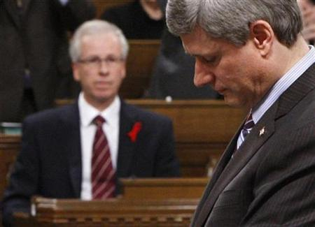 Stephane Dion and Stephen Harper